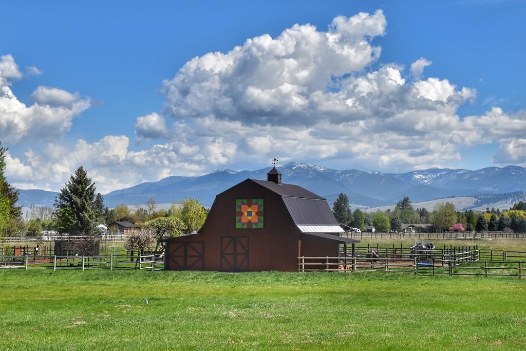 A beautiful barn by Montana's Blue Mountain by louannwarren