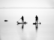 17th May 2021 - two paddle boards and a rock...