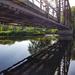 Black Bridge reflections  by ljmanning