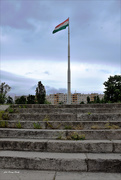 25th May 2021 - National flag on the Danube bank ......