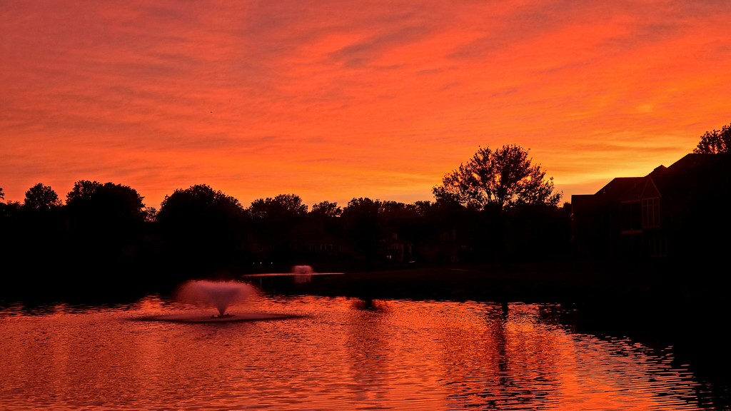 Sunset Over the Pond by photograndma
