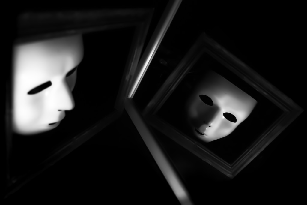 the mask in the mirror by northy