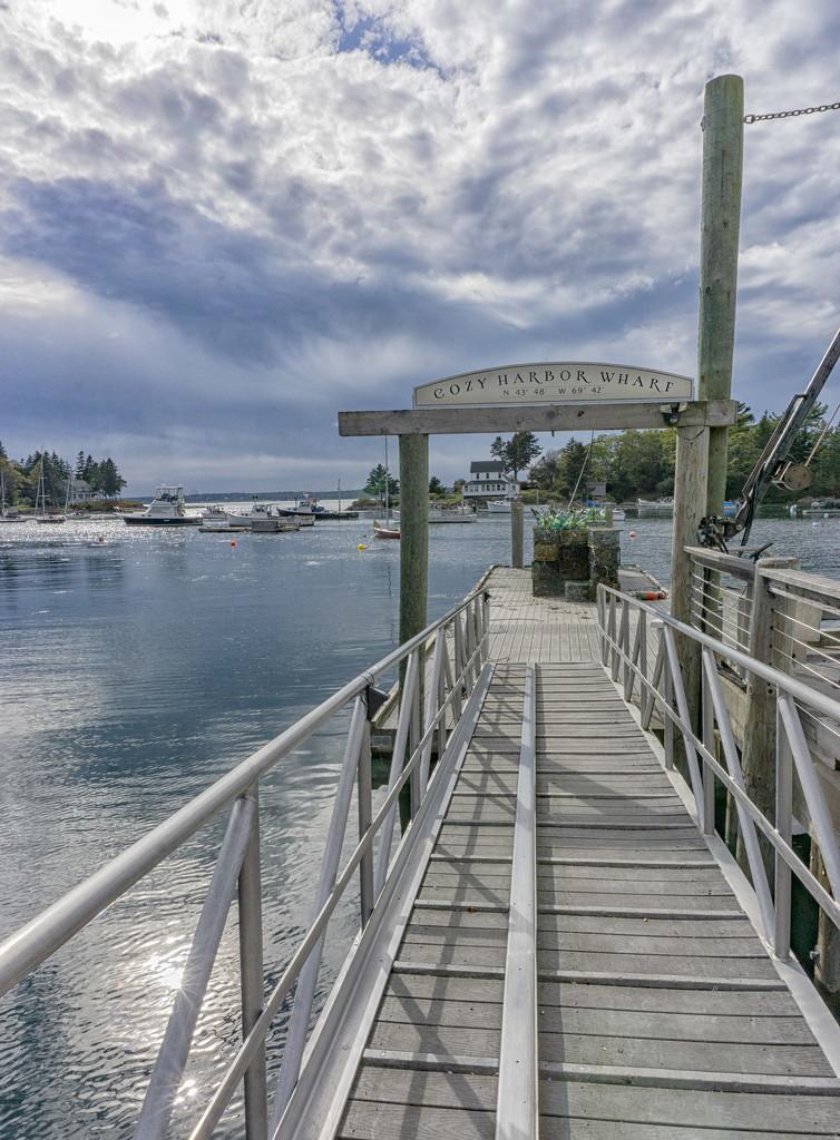 Cozy Harbor Wharf by sjoblues