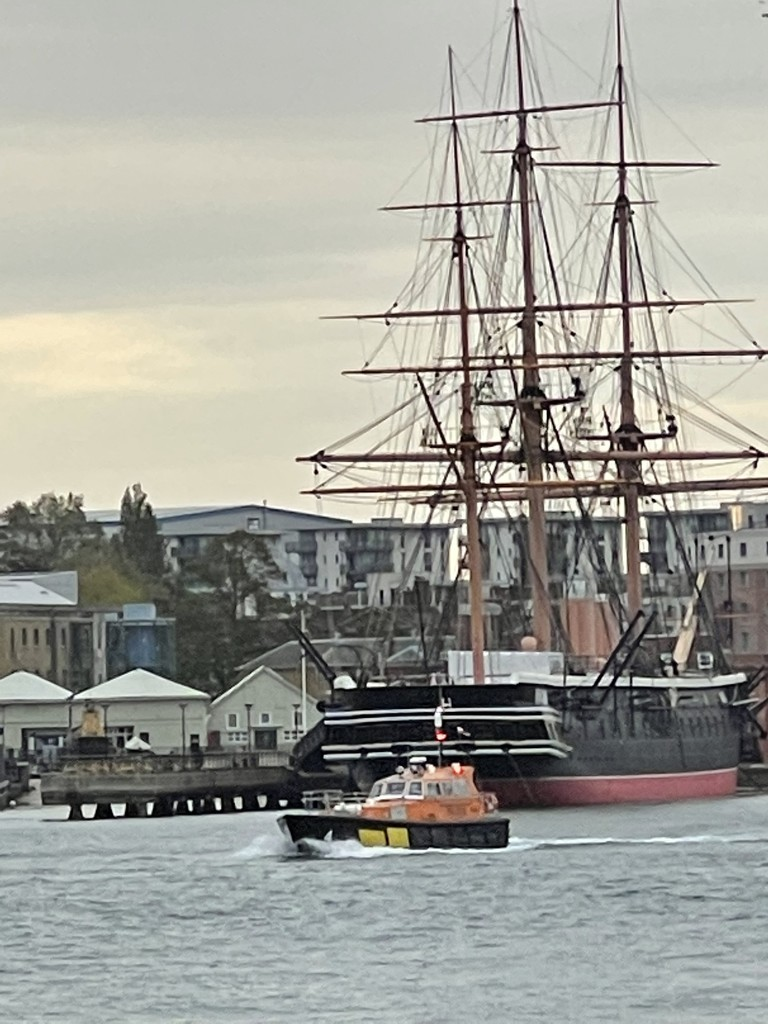 A modern day Pilot Cutter and the 1859 HMS Warrior by bill_gk