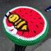 Bee on watermelon