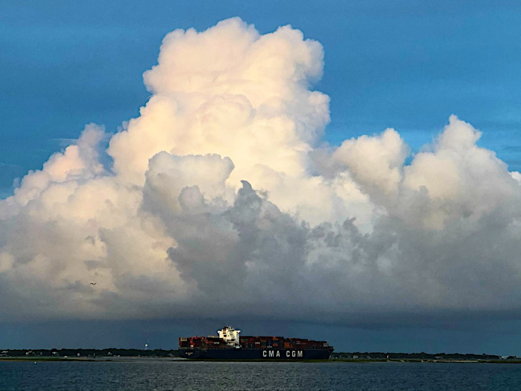 Summer clouds over Charleston Harbor by congaree