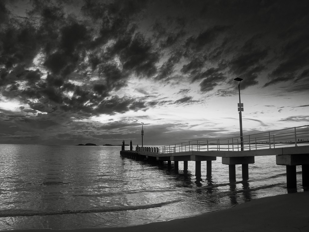Sunset In Black And White_6111510 by merrelyn
