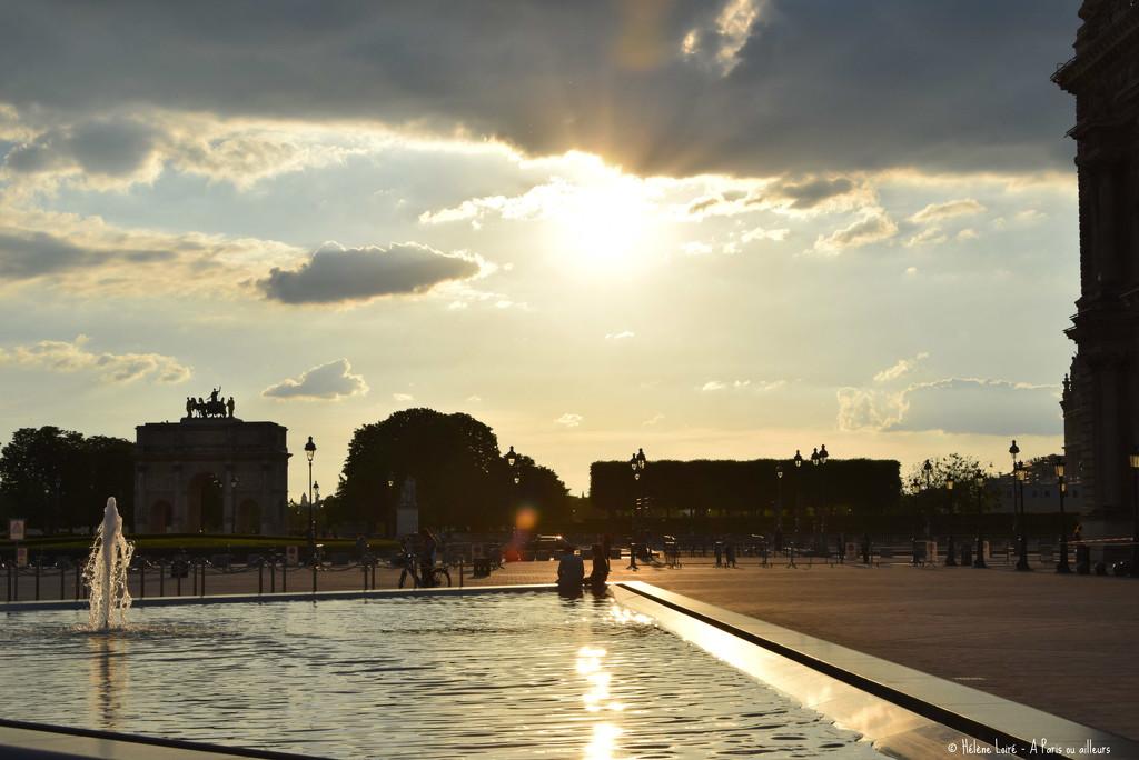 Sunset from Le Louvre  by parisouailleurs