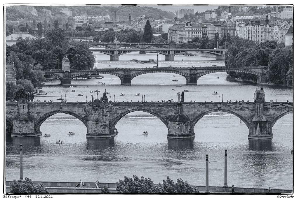 Prague bridges. by ivophoto
