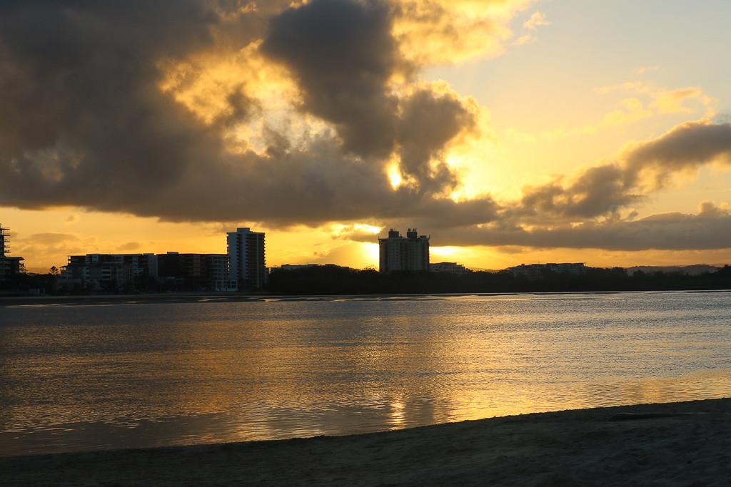Sunset on the Sunshine Coast by flyrobin