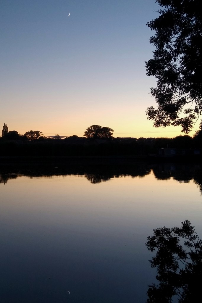 New Moon Reflected in the Canal by 30pics4jackiesdiamond