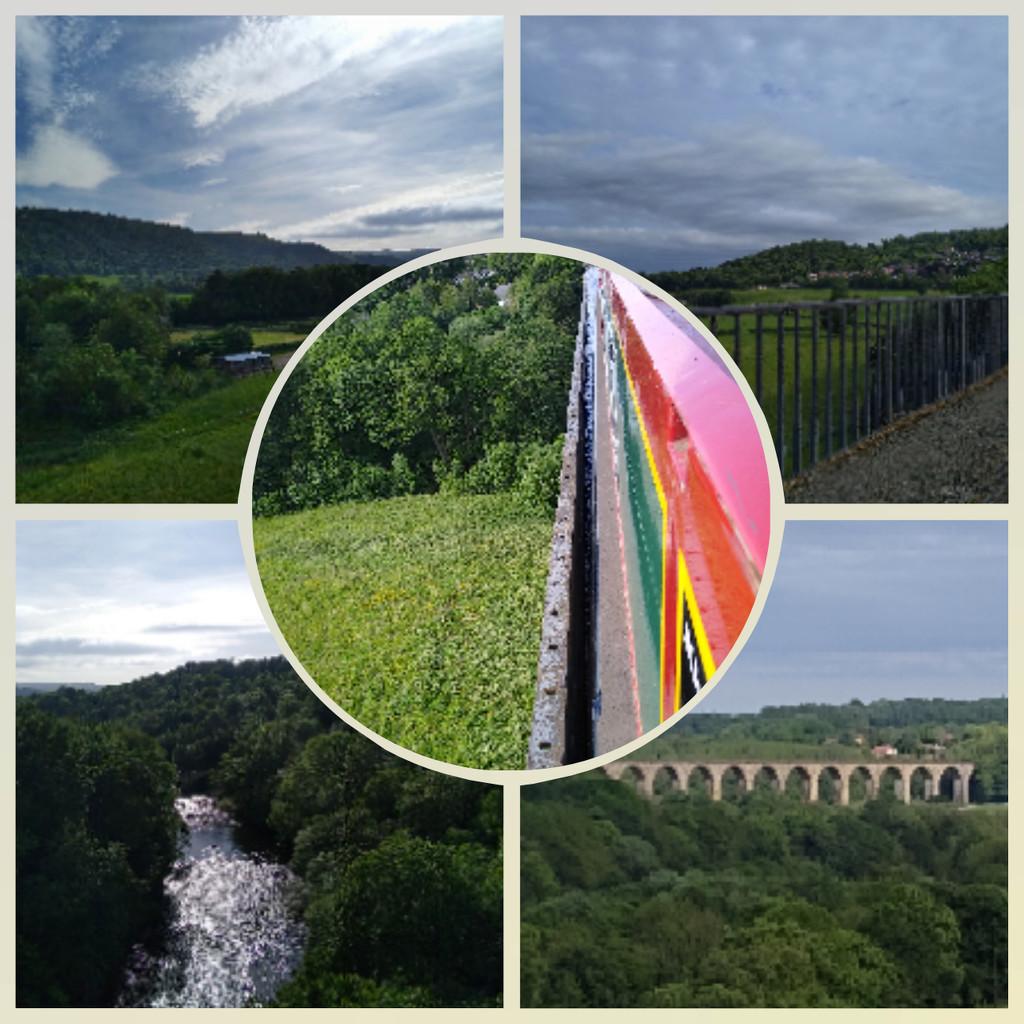 Views Crossing the Pontcysyllte Aquaduct by 30pics4jackiesdiamond