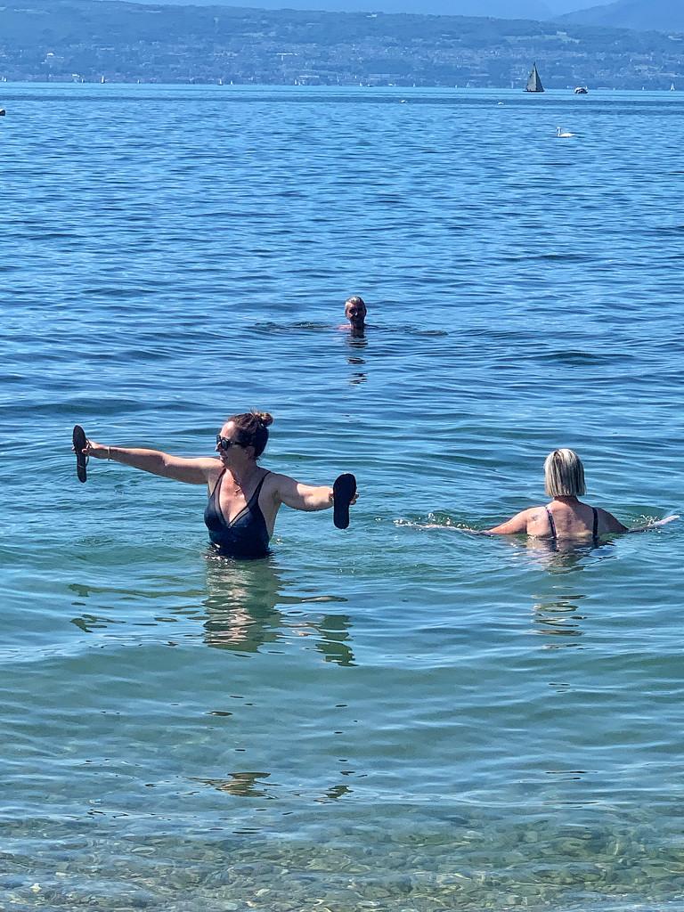Fun in the lake.  by cocobella