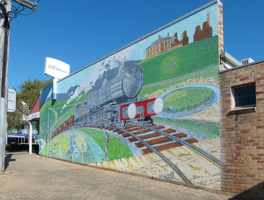 Brown's Colliery Richmond Vale Mural by onewing