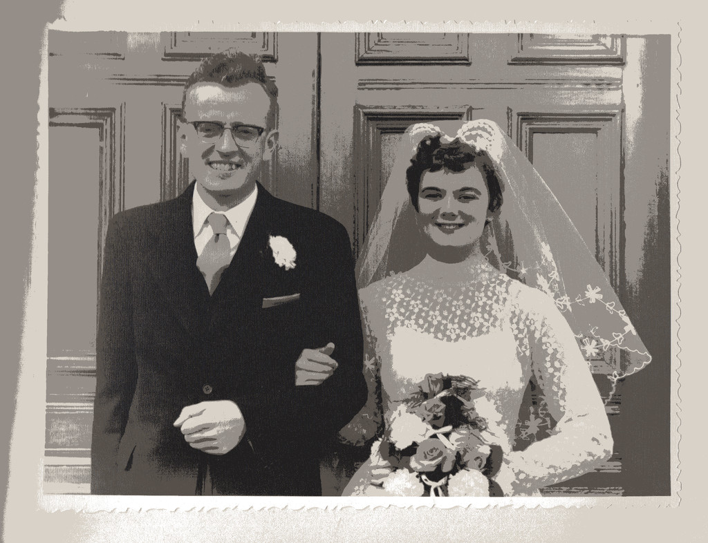 Doug and Eirwen on their wedding day by helenhall