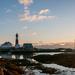 Tranøy lighthouse by night