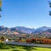 Franschhoek valley surrounded by mountains