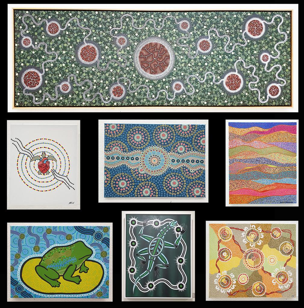 Aboriginal Art - John Hunter Hospital by onewing