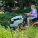 Teaching my granddaughter how to mow