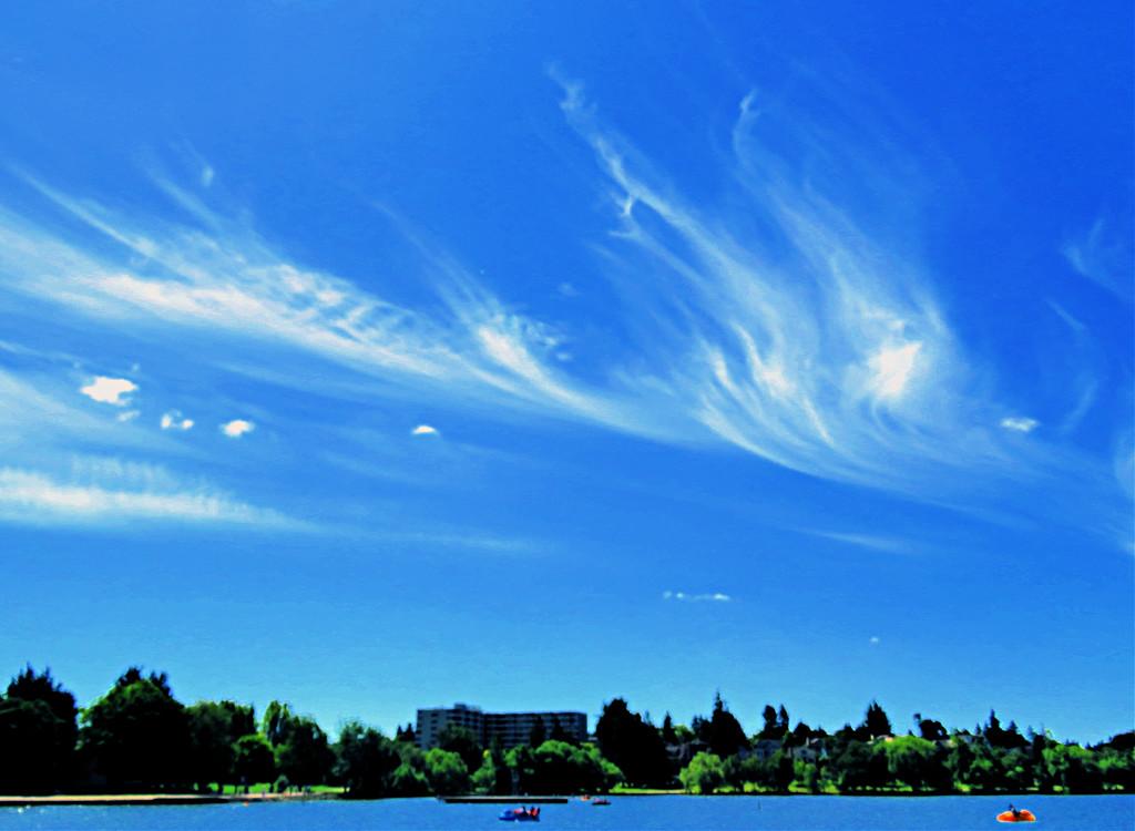 Green Lake Skyscape by seattlite