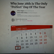 28th Jun 2021 - Perfect Day