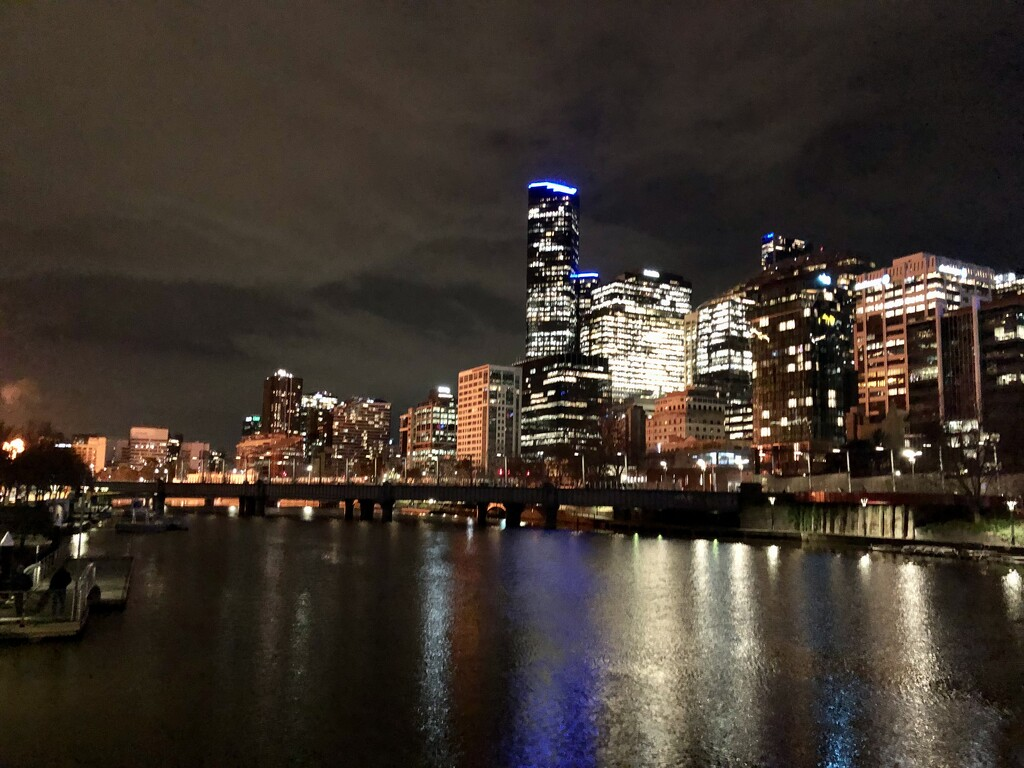Cityscape by night by pictureme