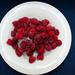 Raspberries on ice