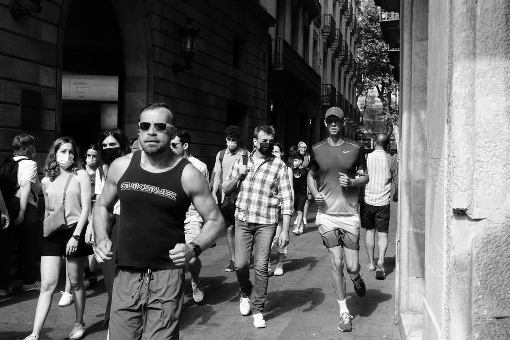 The running man by jborrases