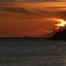A dramatic sunset on the Tuscan coast