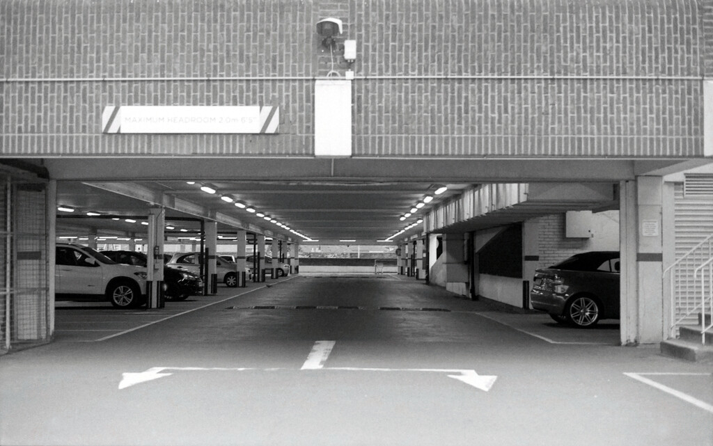 Ilford Delta 100 35mm Film : ASDA Exit by phil_howcroft