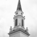 First Baptist Church steeple...