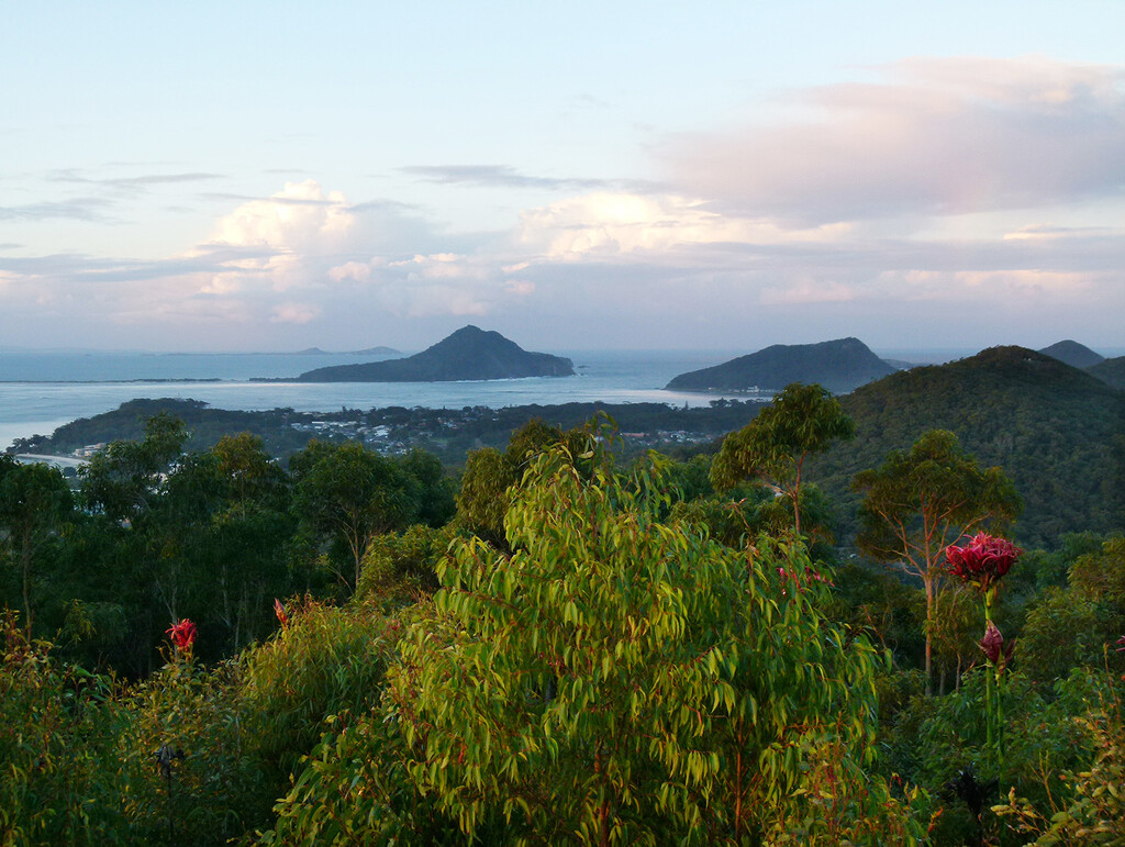 Shoal Bay From Gan Gan Lookout by onewing
