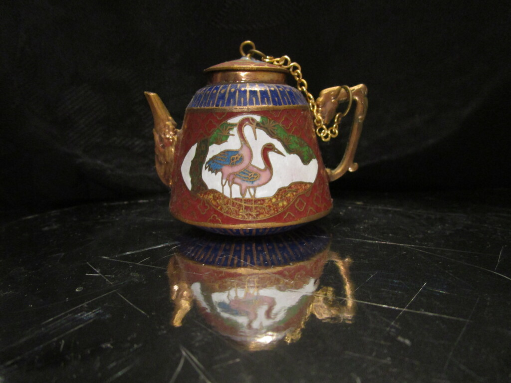 Minature Cloisonne teapot in my collection by 777margo