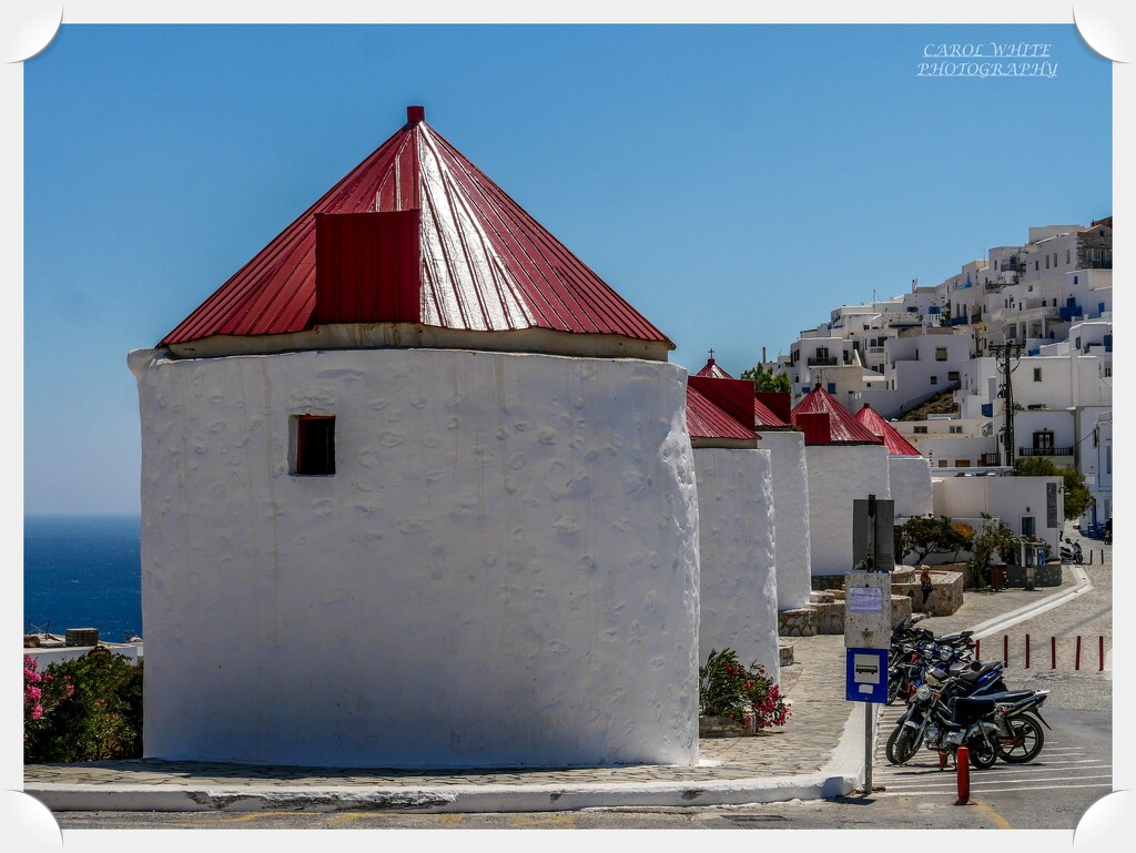 The Windmills Of Chora,Astypalaia by carolmw