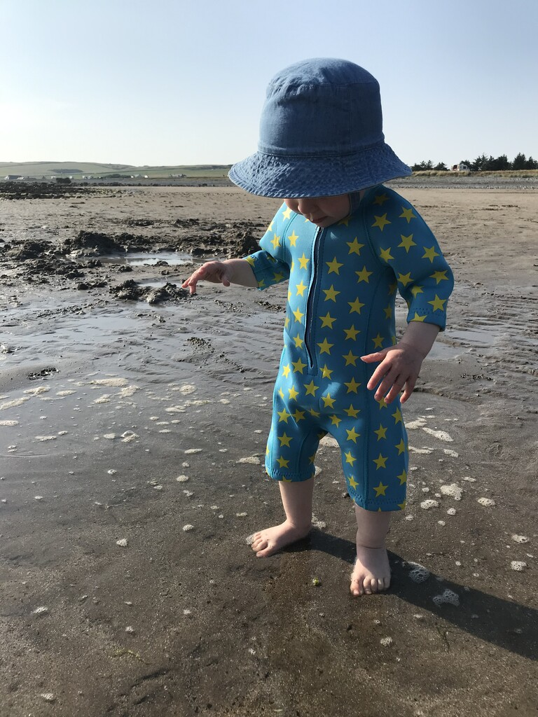 Day 2 - Paddling on the Beach by muddledmum