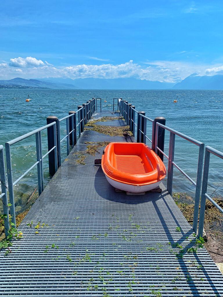Orange boat.  by cocobella