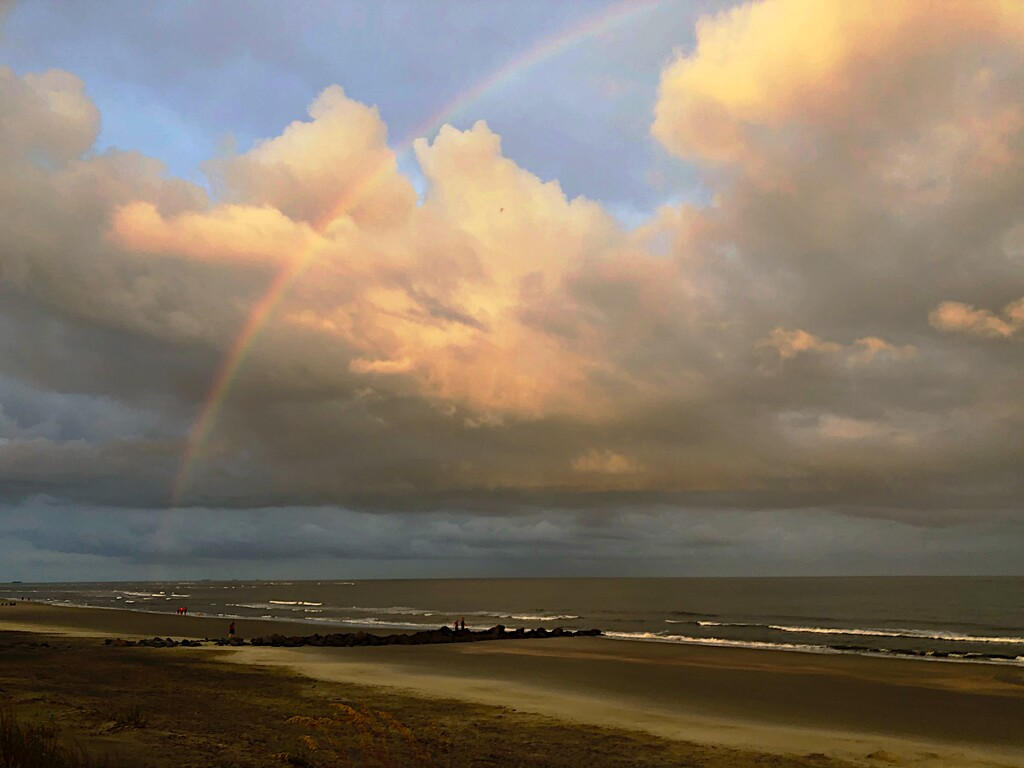 Rainbow over the beach by congaree