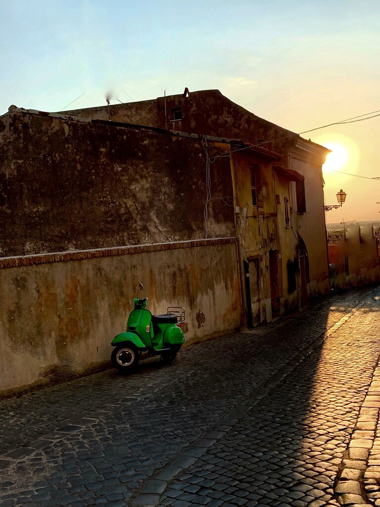 The green Vespa by caterina
