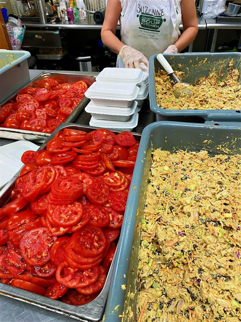 Lunch in the Making at Dilworth Soup Kitchen by peggysirk