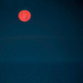 The moon is setting over the Tyrrhenian sea