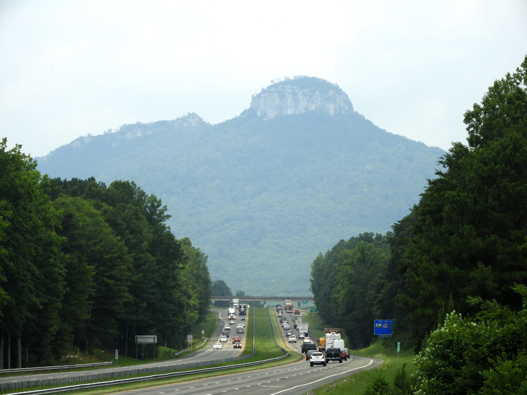 Passing by Pilot Mountain by homeschoolmom