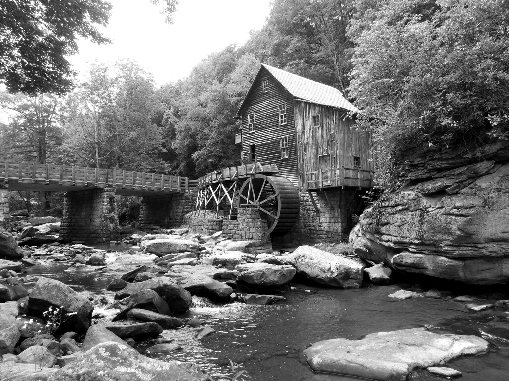 Black and White Mill by homeschoolmom