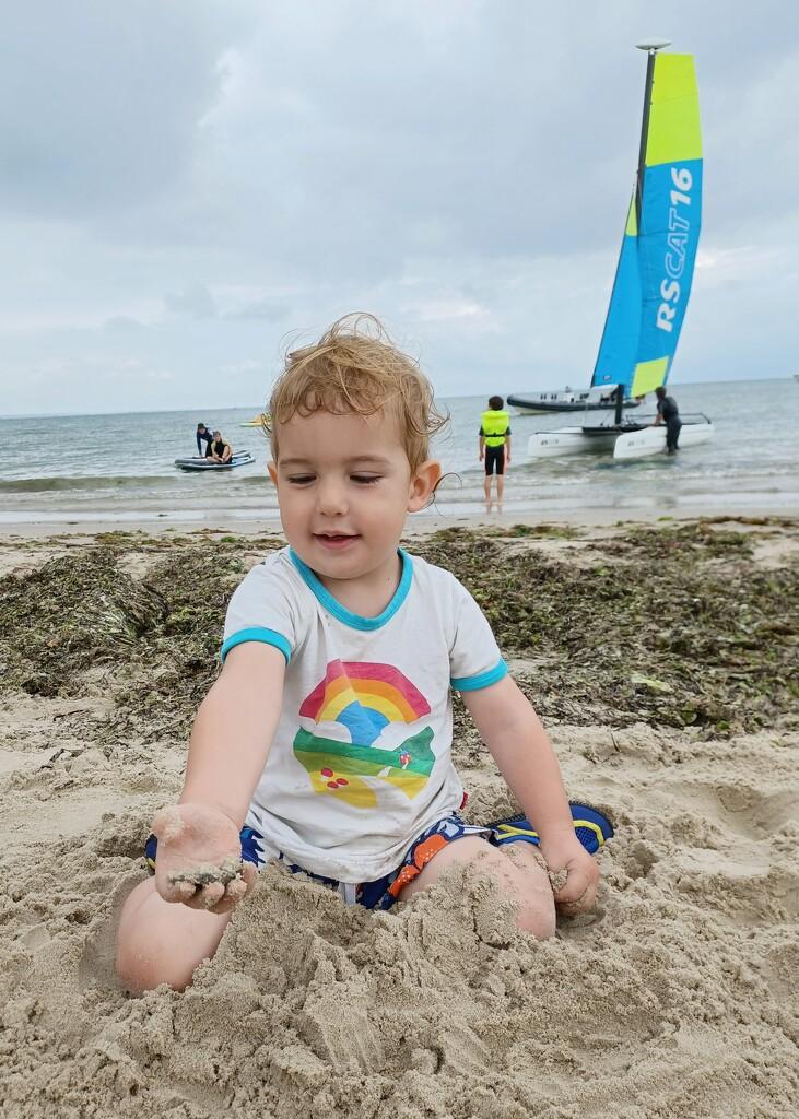 Enjoying the beach by busylady