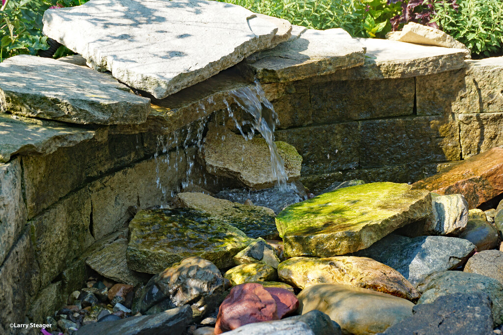 Children's garden Fountain  by larrysphotos