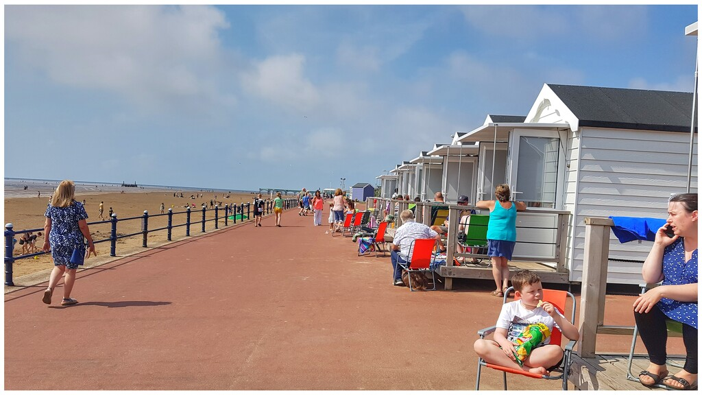 The beach huts with full occupancy! by lyndamcg