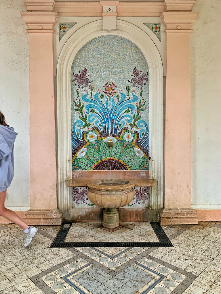 Fountain in Evian.  by cocobella
