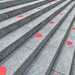 Hearts on steps.