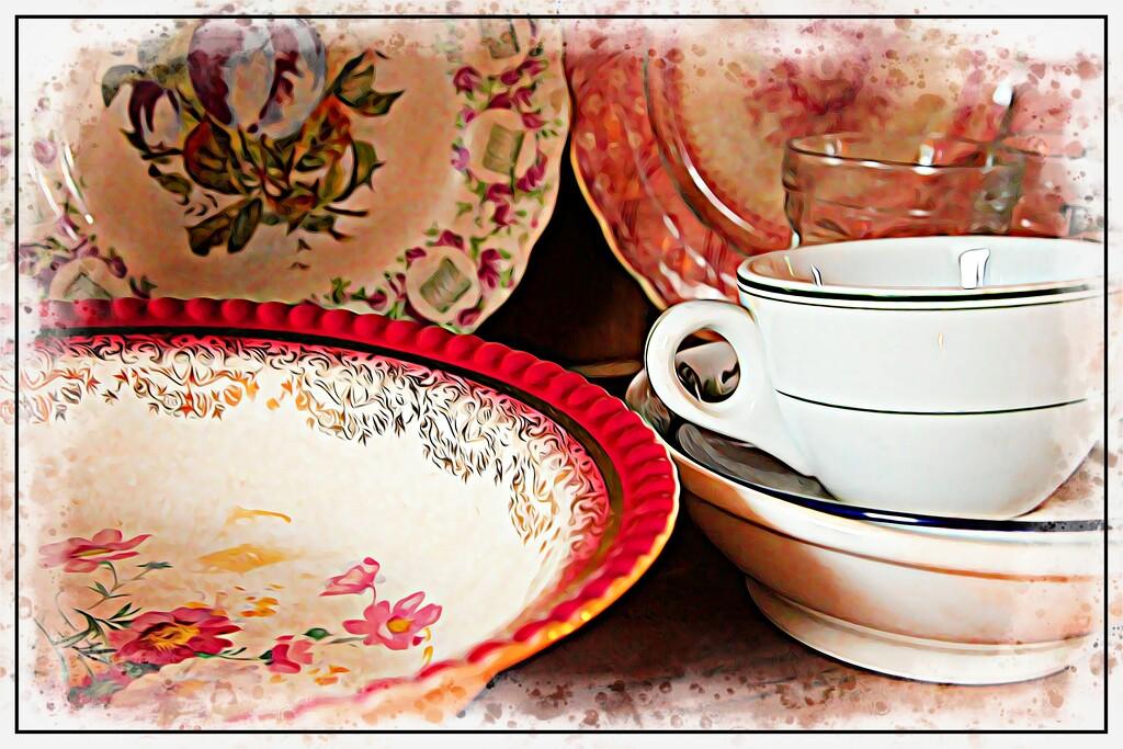 Vintage Pottery by olivetreeann