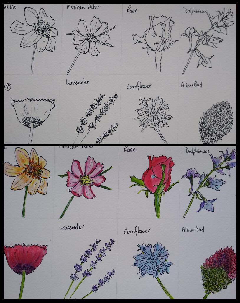 Ink and Acrylic by artsygang