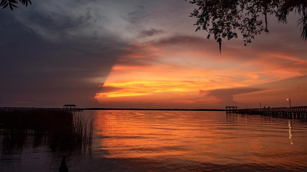 Sort of a Strange Sunset Tonight! by rickster549